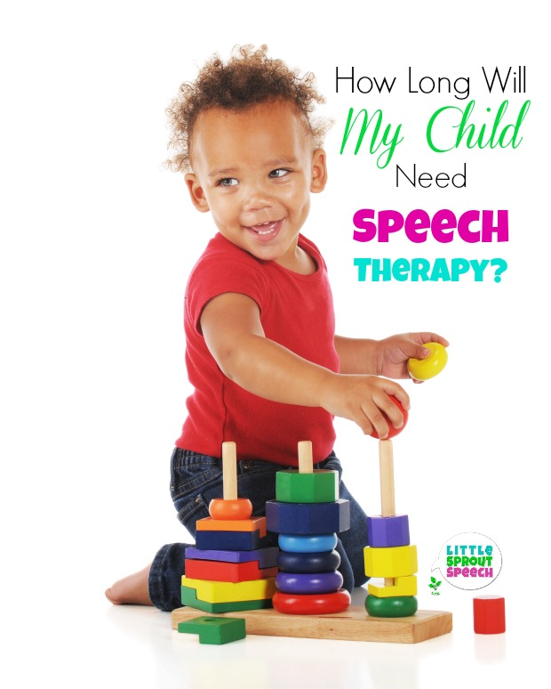 How long will my child need speech therapy?