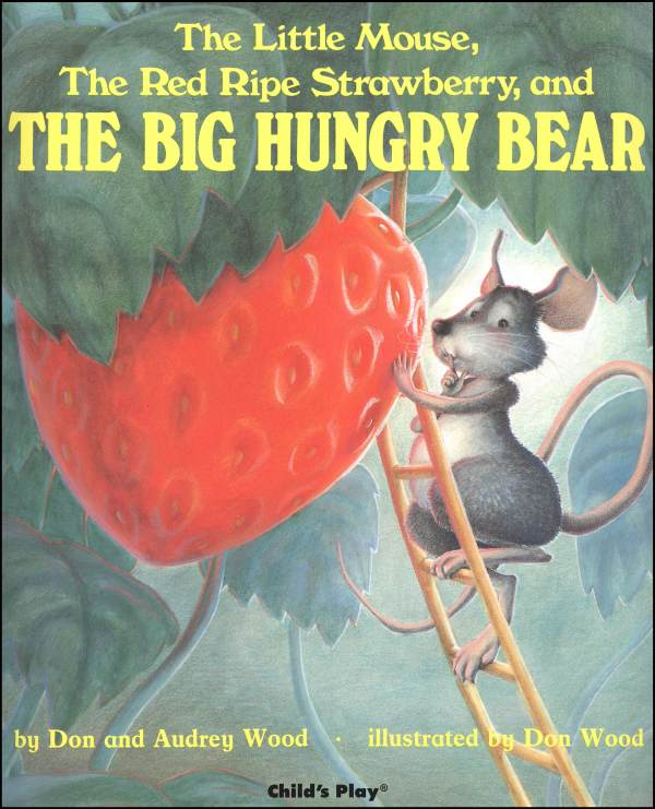 strawberry, mouse, hungry bear