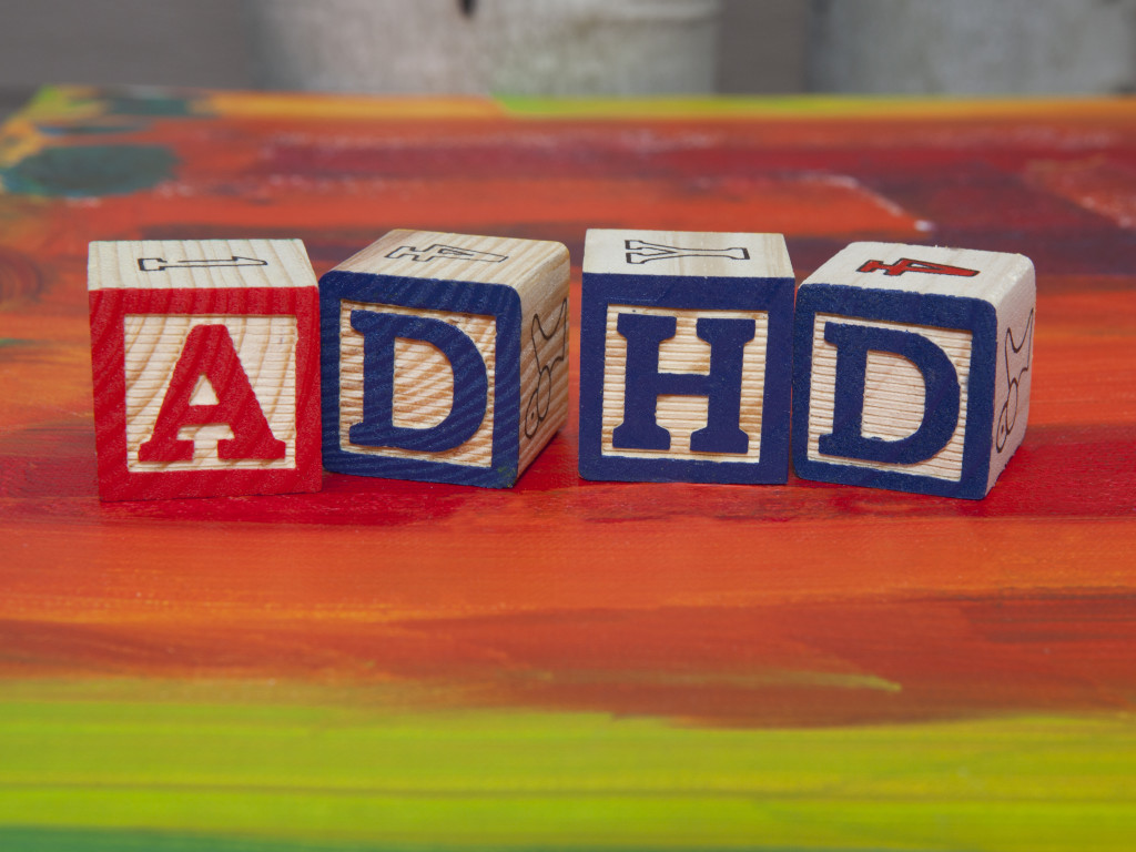 Attention Deficit Hyperactivity Disorder (ADHD) alphabet blocks